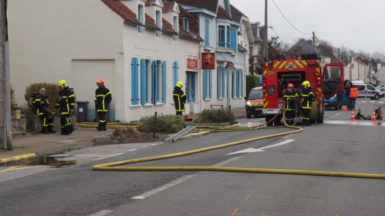 Saint-Léonard : d'importants moyens déployés pour un feu aux abords d'un compteur de gaz