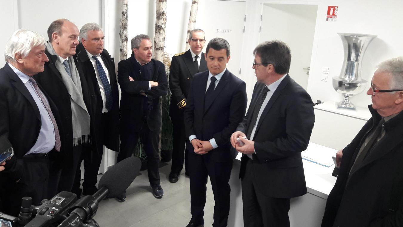 Le ministre du Budget Gérald Darmanin était en visite à Boulogne-sur-Mer le 28 février dernier pour évoquer les enjeux du Brexit.