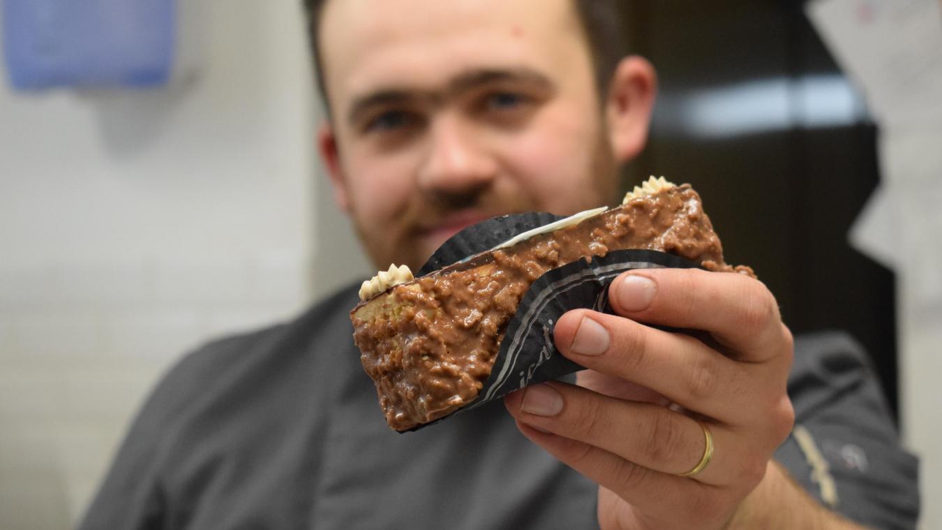Le gâteau Lamartine de Florian Vanhaecke peut se manger, debout, en marchant, sur le pouce, sans couvert...