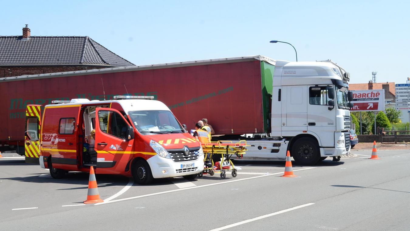 L'accident avait eu lieu vers midi le 14 juin 2017 à l'angle de la rue Roger-Salengro et la route de la Victoire.