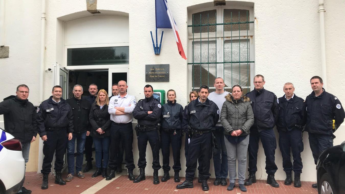 Les policiers du Touquet rendent hommage à l'engagement de leurs collègues