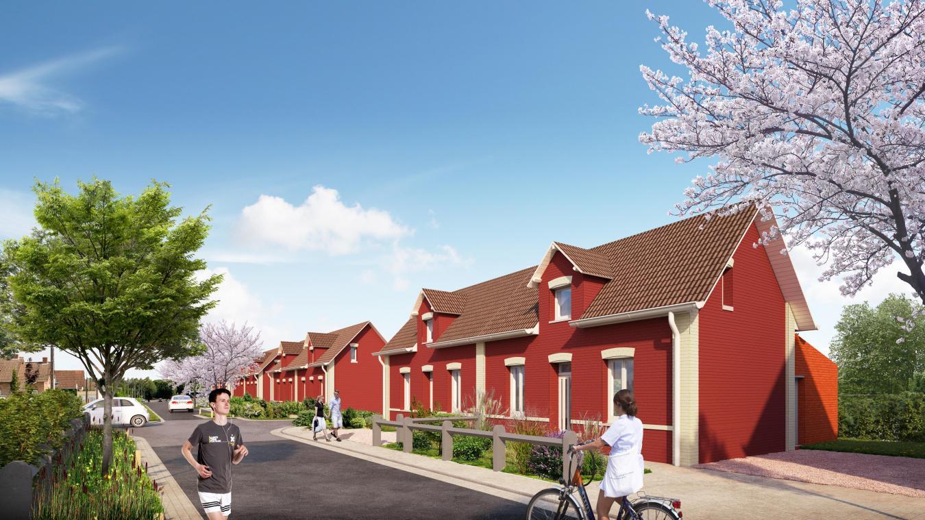 Maisons & Cités a montré lors de la réunion à quoi ressembleront les maisons une fois rénovées.