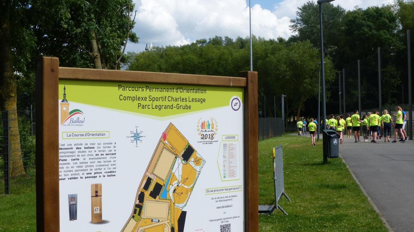 Les parcours d'orientations du budget participatif 2018 sont ouverts au parc Legrand-Grubbe.
