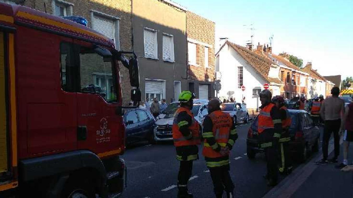 Quatre véhicules ont été impliqués dans cet accident de la route.