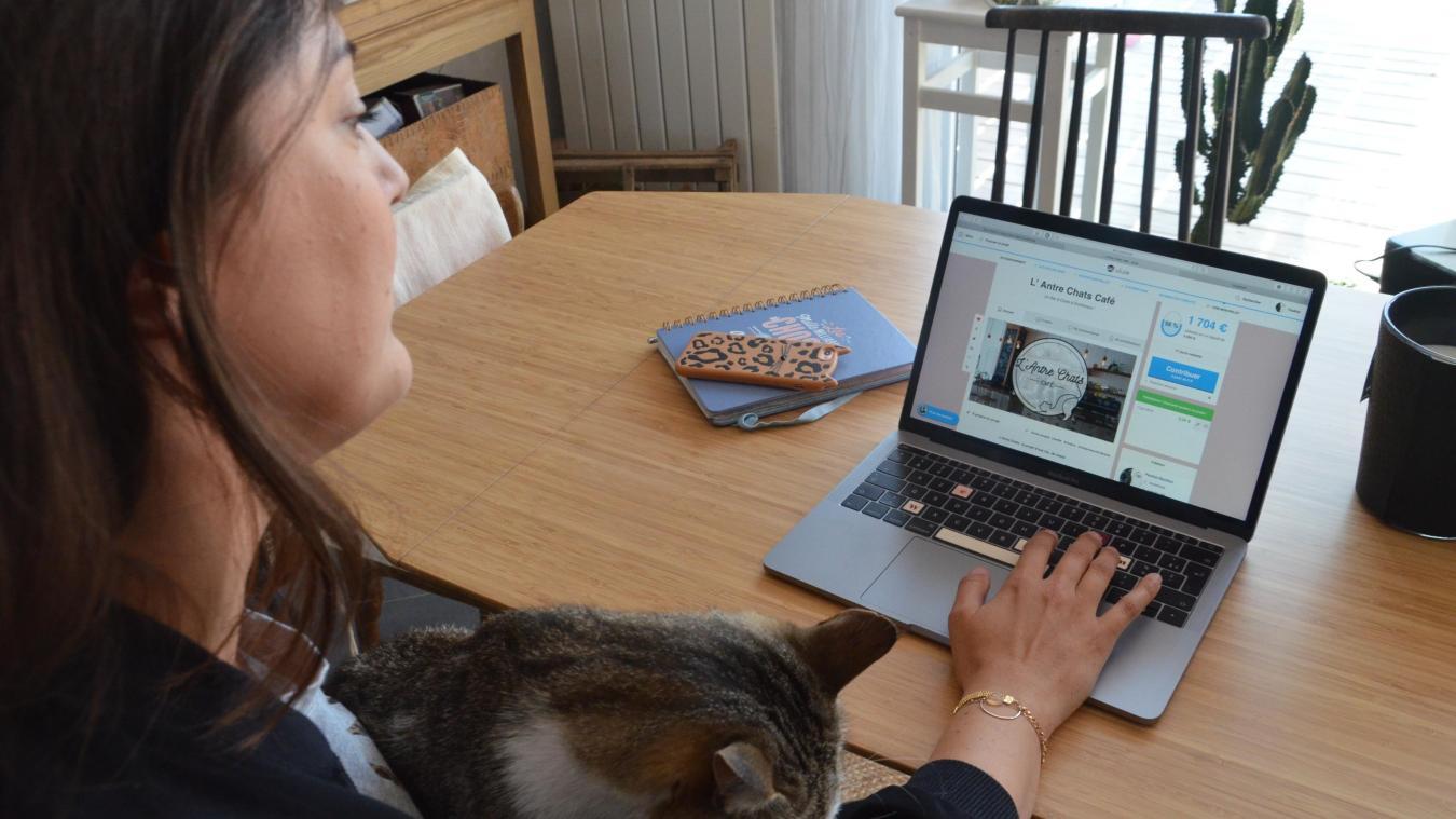 Pauline Révillion a lancé un financement participatif sur une idée de BGE Flandre création. Depuis bientôt un mois, elle surveille l'évolution de la cagnotte.