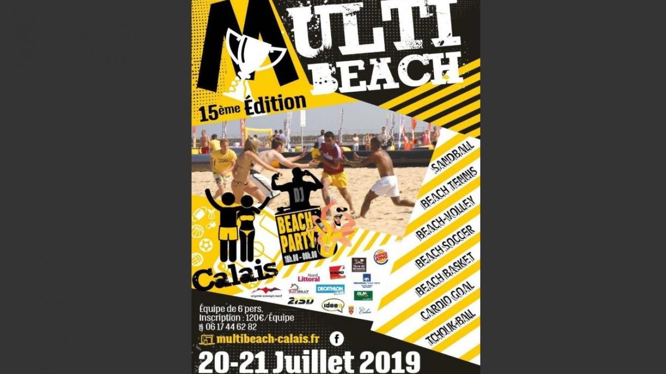 15e Multibeach. Samedi 20 et dimanche 21 juillet 2019, plage de Calais.