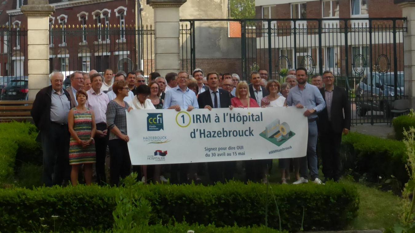 Les élus de la communauté de communes de FLandre intérieure (CCFI) ont mobilisé la population l'an dernier pour obtenir l'autorisation d'installer une IRM à l'hôpital d'Hazebrouck.