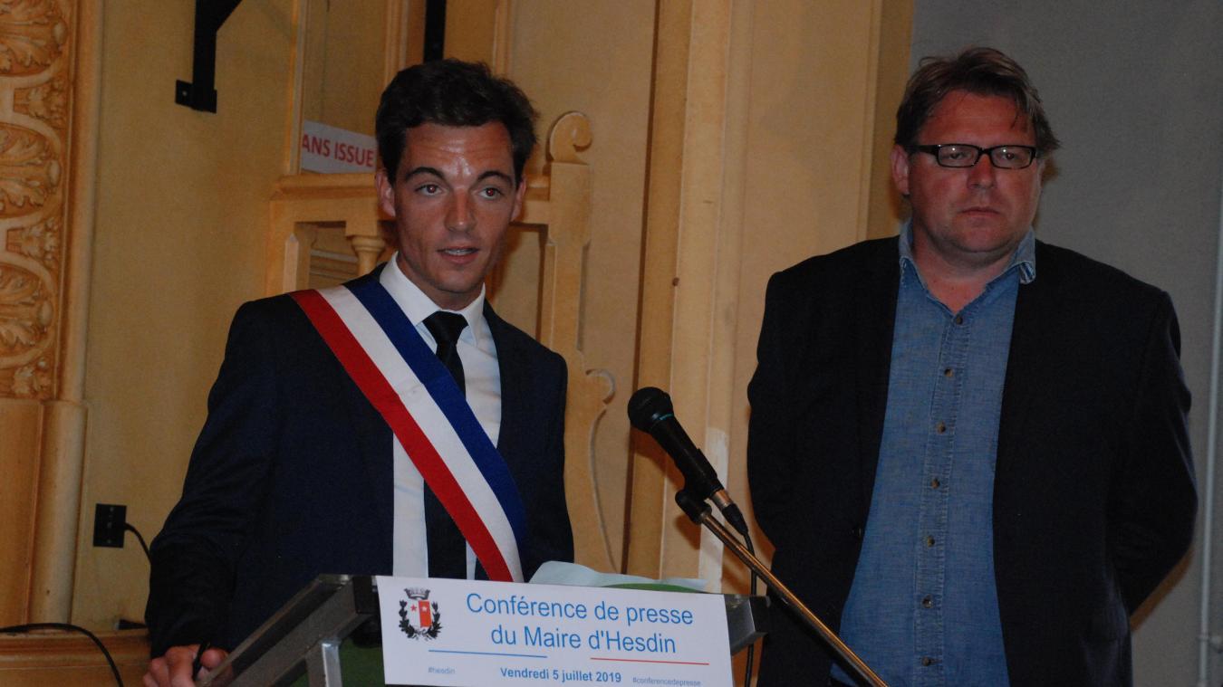 Pour cette conférence de presse, Stéphane Sieczkowski-Samier était accompagné de son avocat.