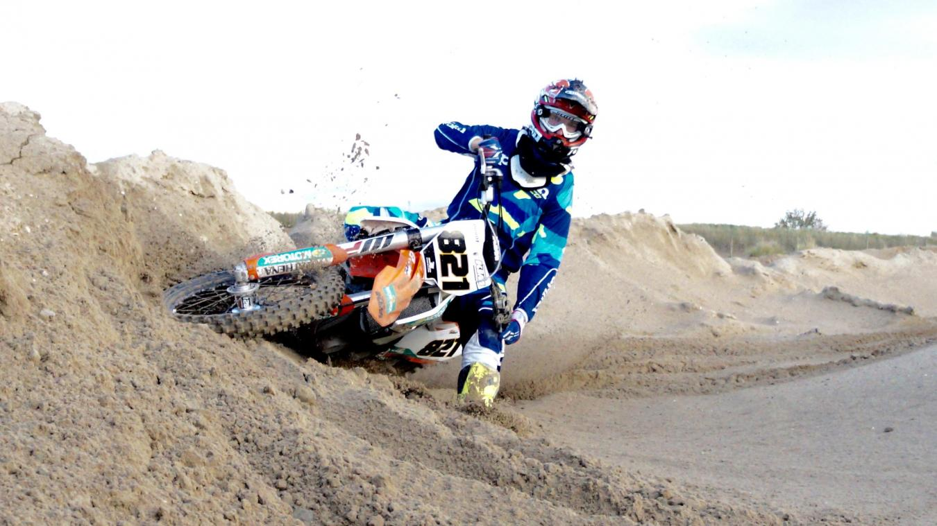 L'accident a eu lieu sur le terrain de motocross (illustration).