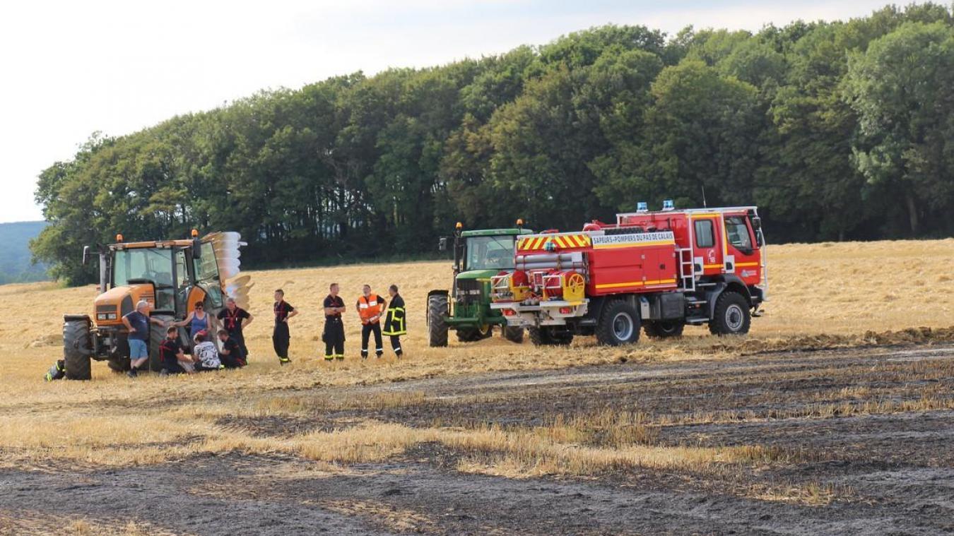 Le feu a ravagé trois hectares de champ.