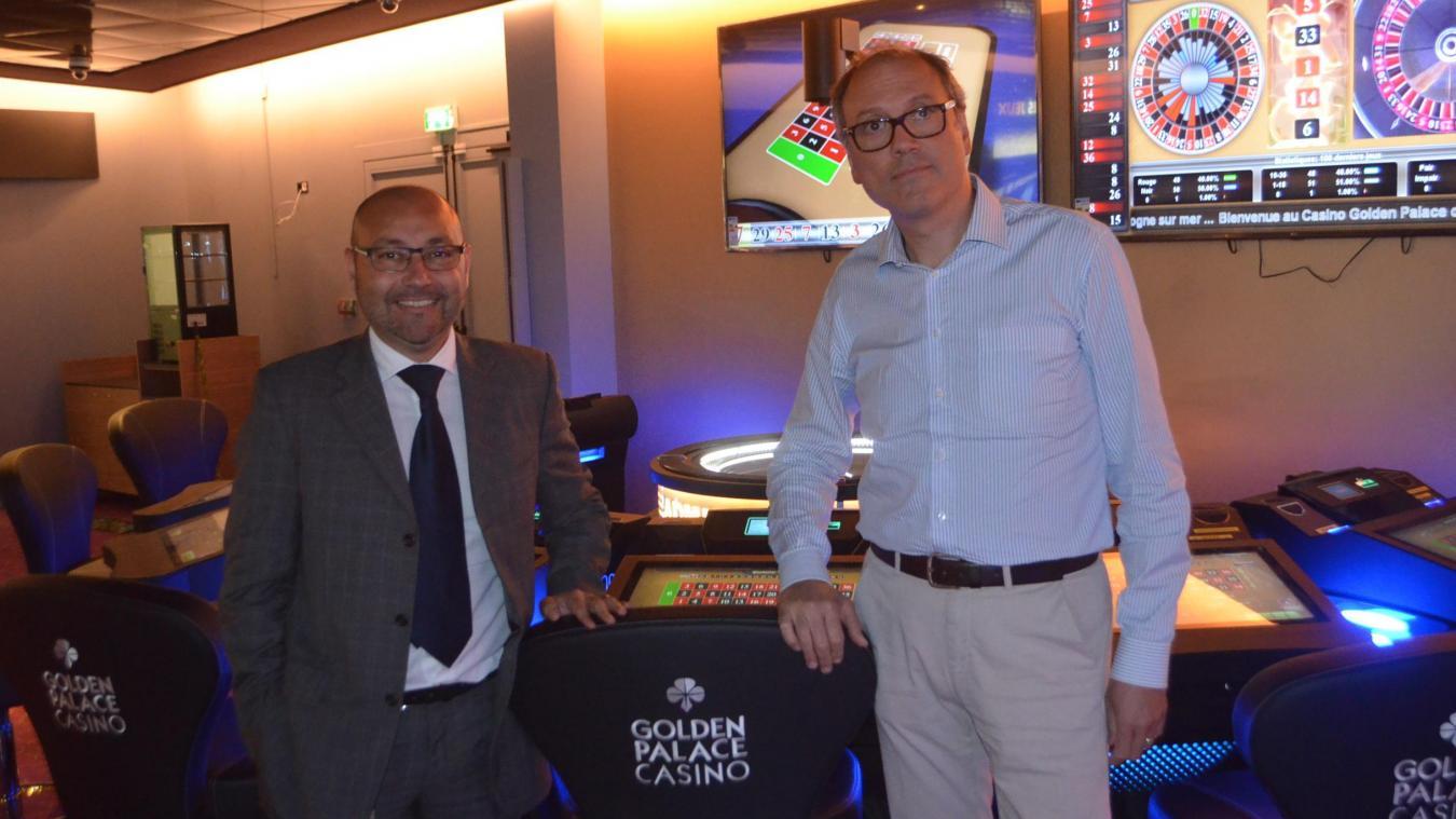 Nicola Corretto, directeur responsable du casino de Boulogne, et Massimo Menegalli, administrateur délégué du groupe Golden Palace.