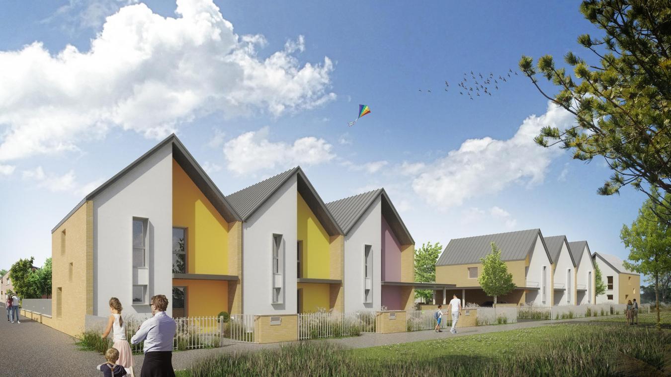 Parmi les quatre projets qui constituent l'ensemble des 125 logements, celui-ci comptera 14 maisons individuelles en accession à la propriété (T4 à T5) rues Malraux, Valparaiso et Nelson-Mandela.
