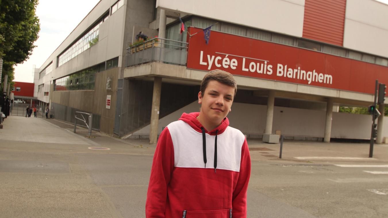 Lucas Debonne habite Verquigneul. Il obtient la mention « très bien » avec un total de 640 points, dont 18/20 en histoire, 19 en français et 18 en gestion.
