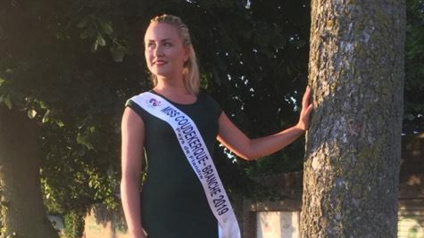 La jeune femme de 22 ans a gagné son billet pour la finale en étant élue Miss Coudekerque-Branche.