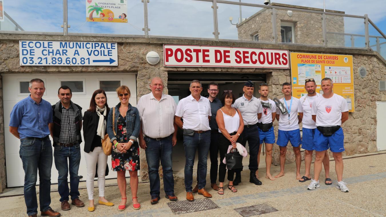 L'opération bracelets plage à été lancée et présentée vendredi 5 juillet au niveau du poste de secours de la plage de Camiers-Sainte-Cécile.