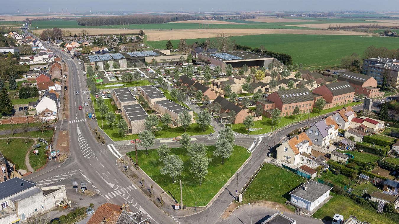 Un nouveau quartier va sortir de terre, à l'entrée de la ville.