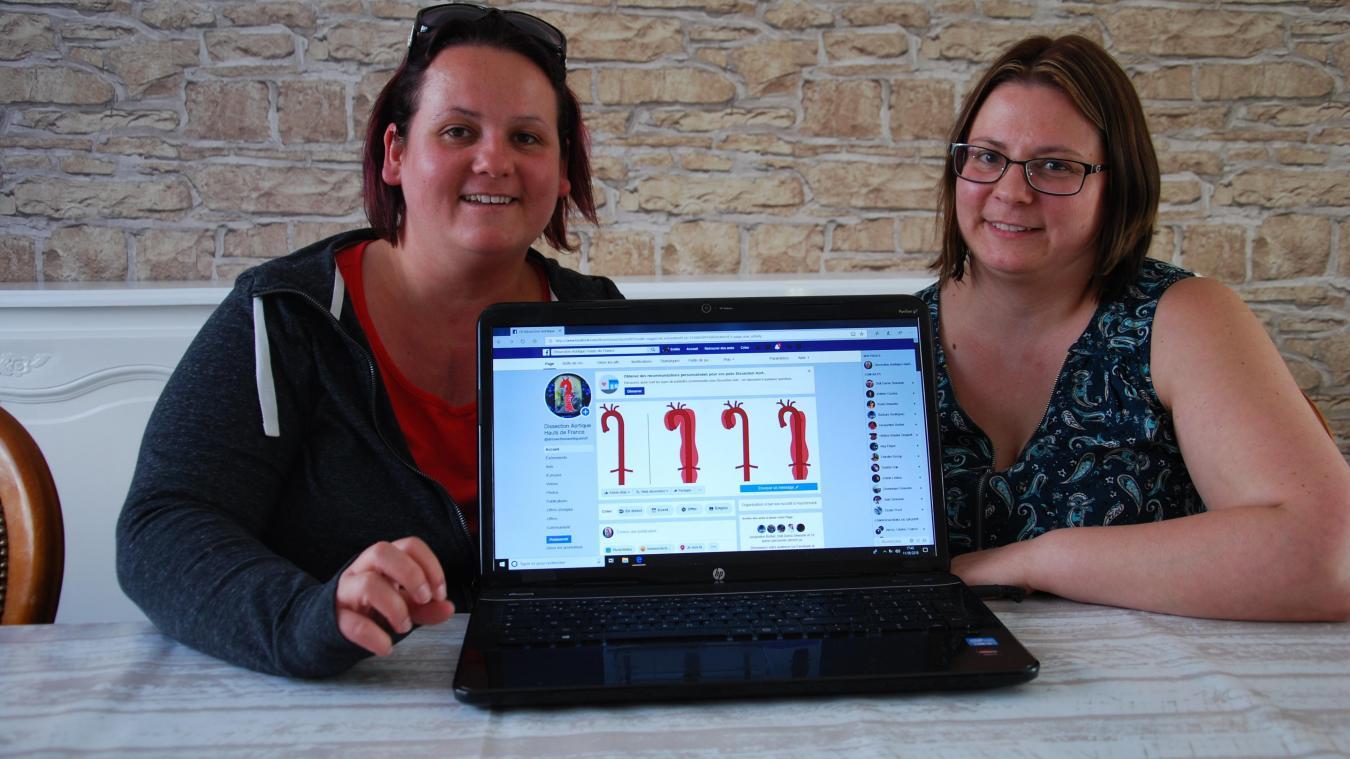 Sandie et Emilie sont devenues référentes Hauts-de-France de l'association des patients atteints de dissection aortique. Elles ont créé une page Facebook pour communiquer autour de leur histoire et de cette maladie.