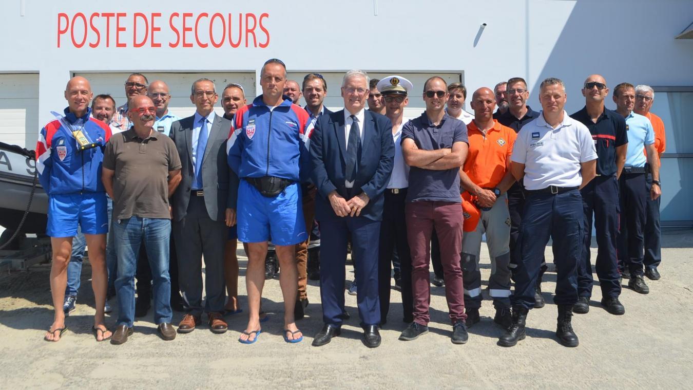 Les acteurs de la surveillance des plages, ici réunis à Hardelot.