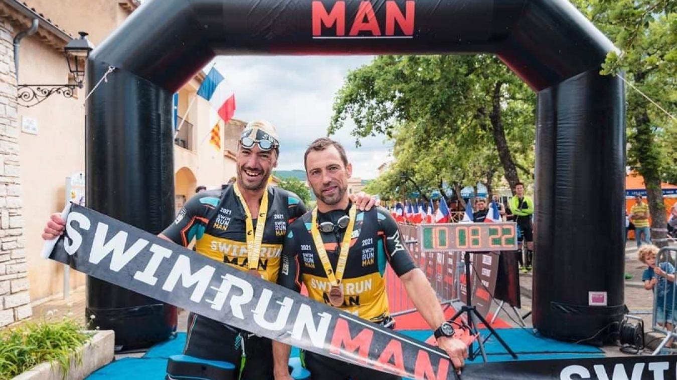 Julien Bernard et Nicolas Drumez ont remporté l'épreuve belge et l'Ultra du Verdon. (DR)