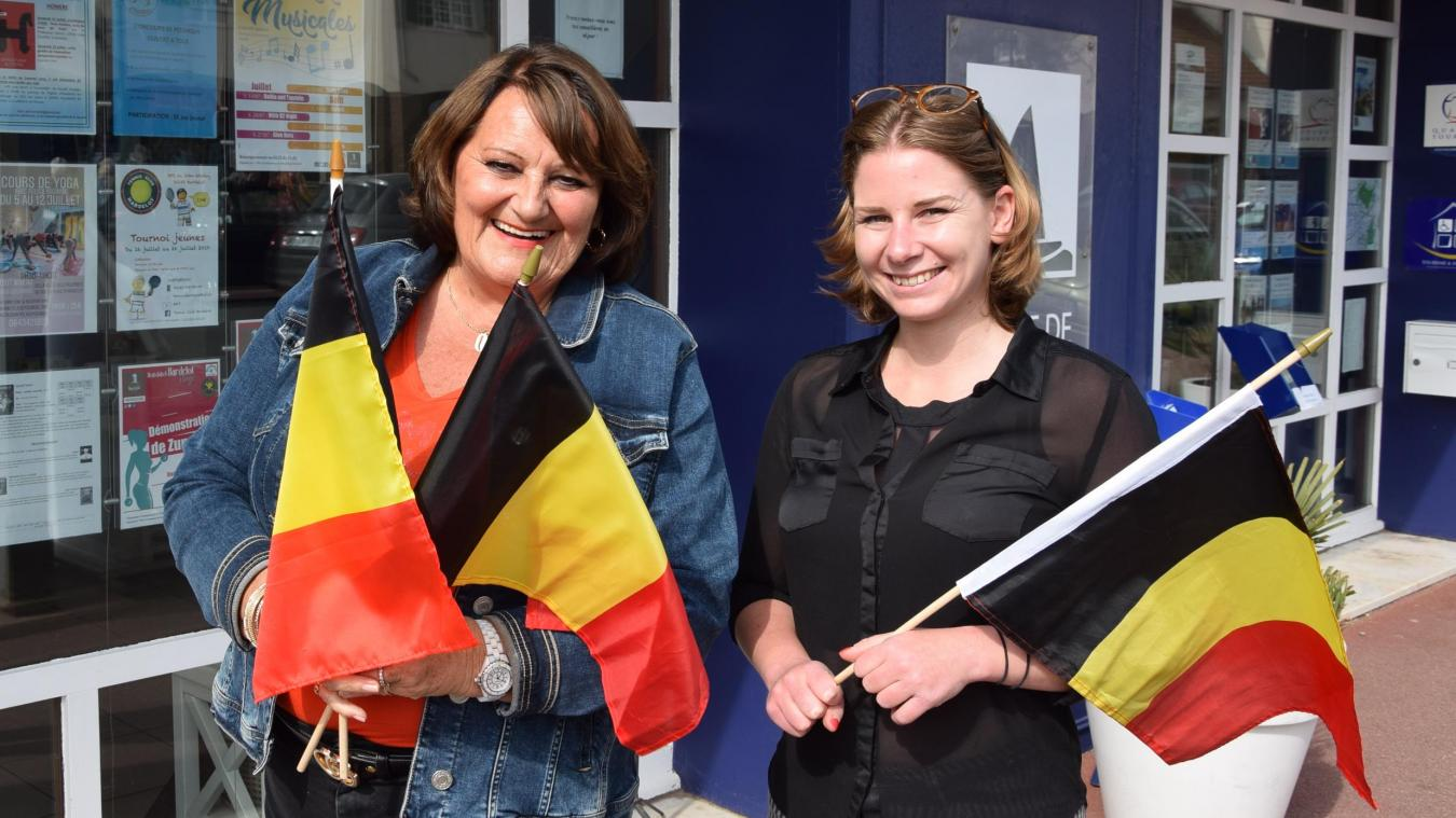 Pour Martine Boulongne, directrice de l'office d'animations d'Hardelot-Plage, et sa collaboratrice Aimie Lasalle, les Belges représentent une partie non négligeable des visiteurs de la station. Samedi 20 et dimanche 21 juillet, Hardelot sera aux couleurs de la Belgique.