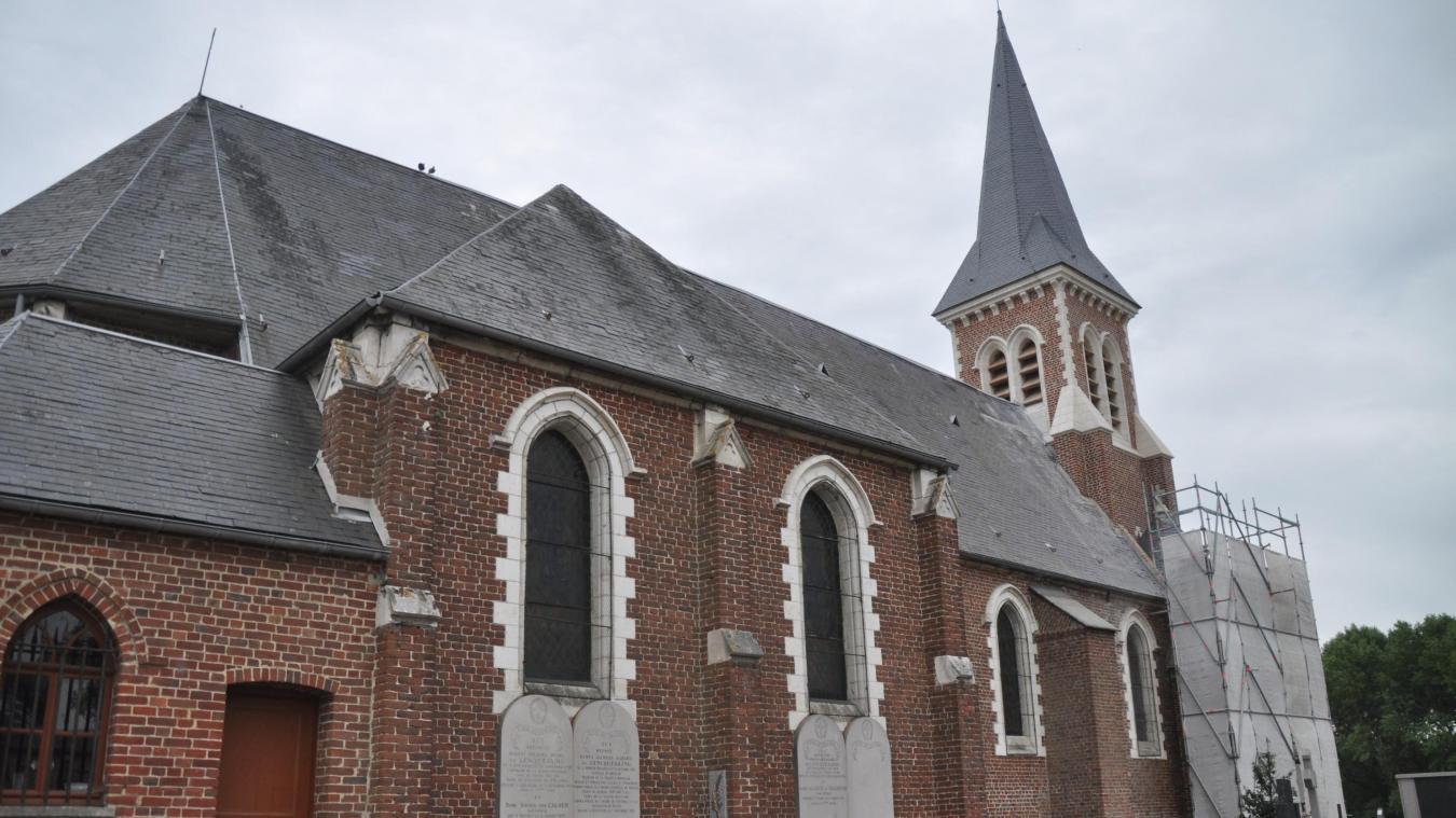 Les travaux de restauration du clocher et de la tourelle de l'église sont quasiment terminés.