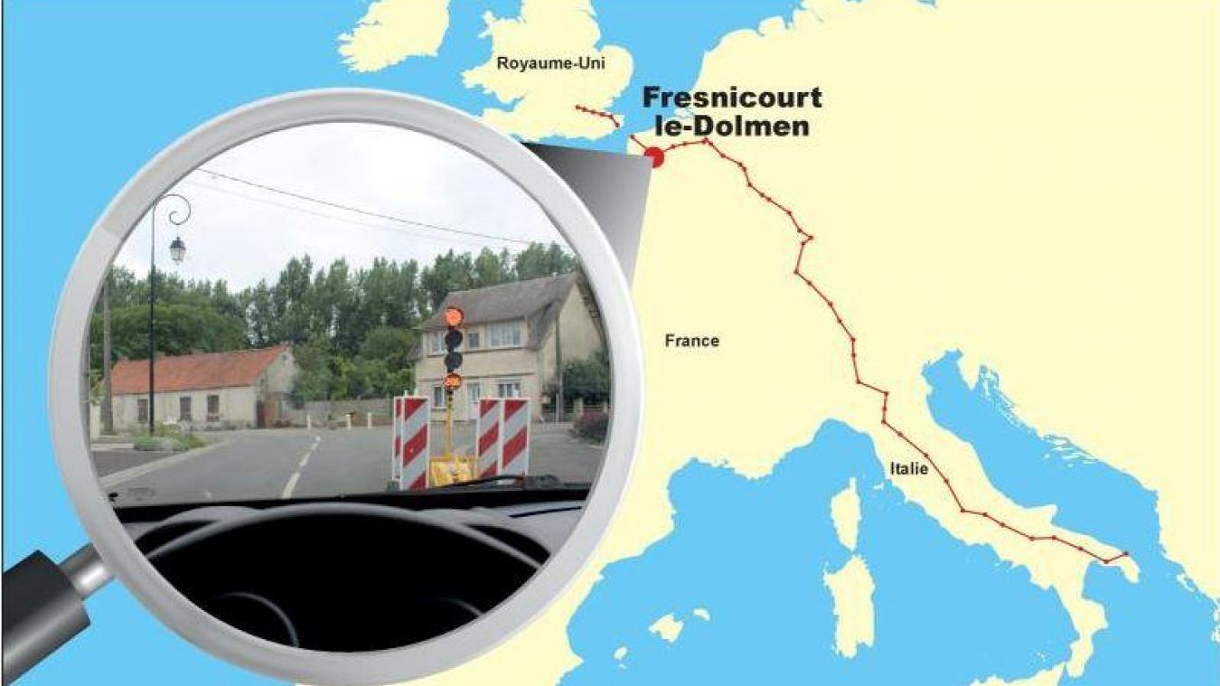 Fresnicourt-le-Dolmen : la via Romea Francigena, entre Londres et l'Italie