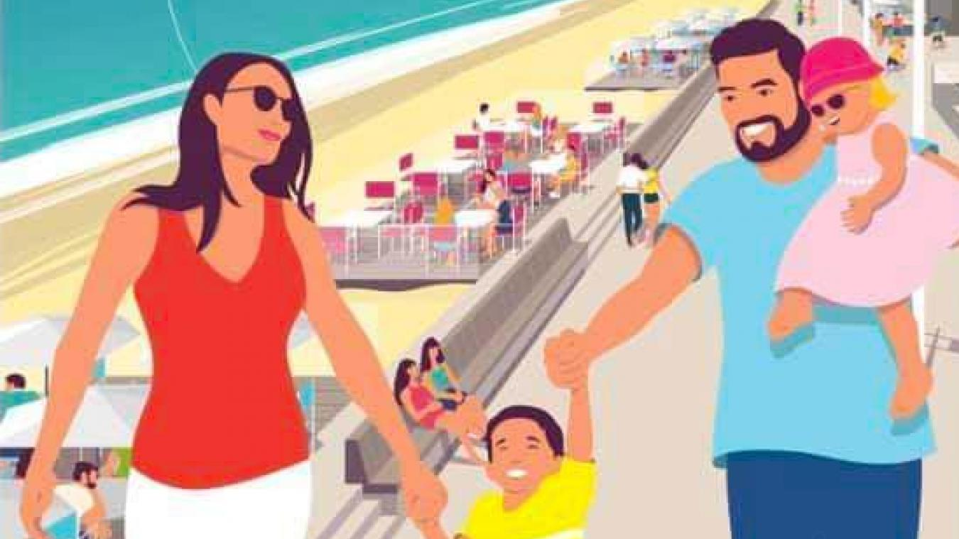 L'affiche publicitaire de la station balnéaire a été dévoilée au début de l'été.