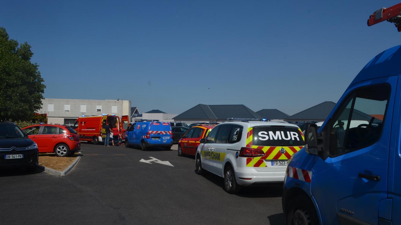 Les secours sont arrivés en nombre dans cet établissement hospitalier sensible.