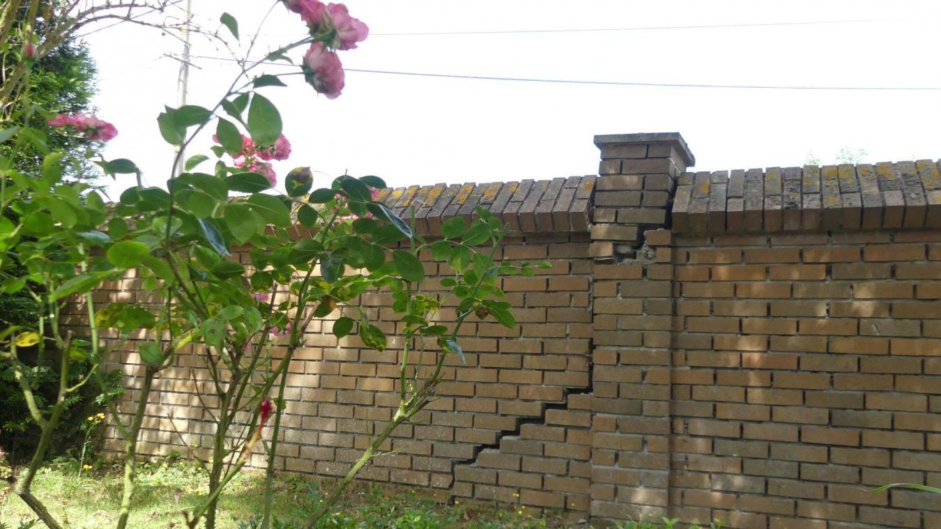 À Calonne-sur-la-Lys, des murs se sont fissurés.