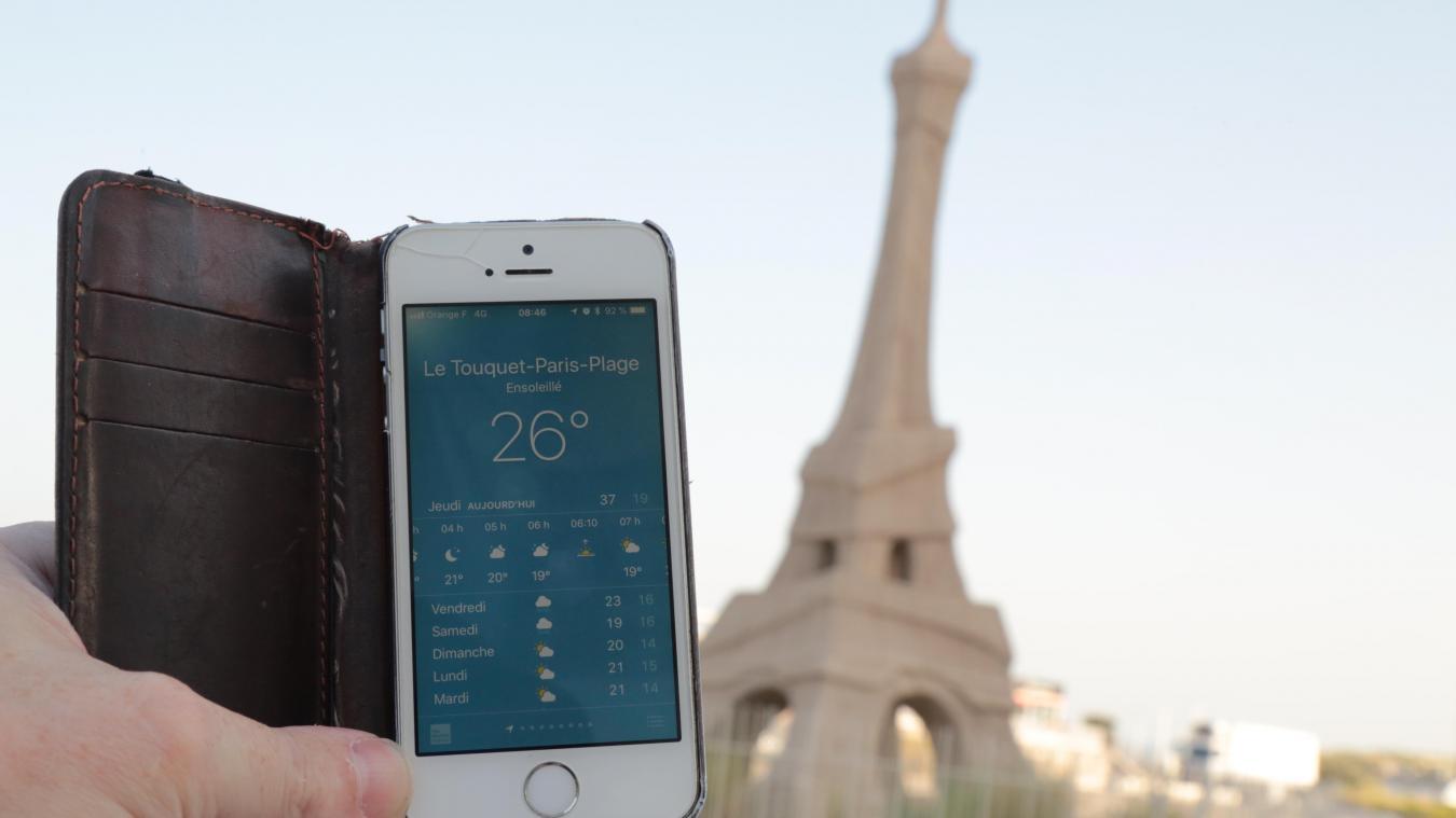 Il faisait déjà 26°C ce jeudi matin 25 juillet aux alentours de 8 h au Touquet-Paris-Plage.