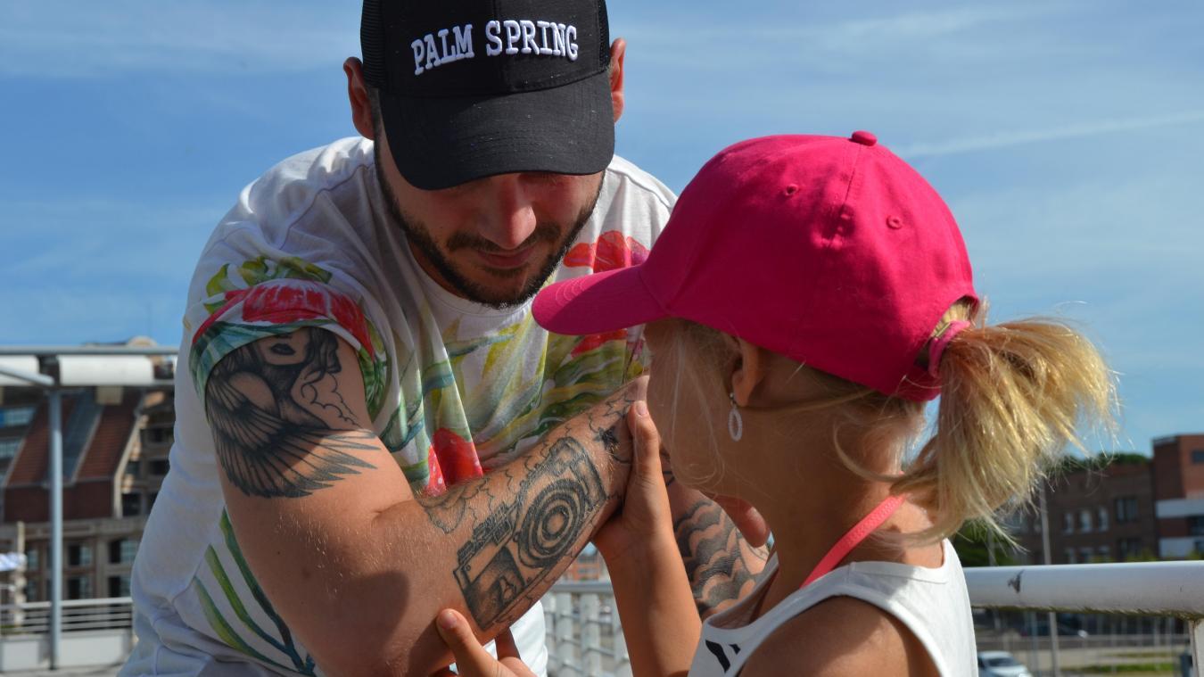 Plusieurs des tatouages de Steven sont liés à son histoire familiale. Sa fille en a inspiré deux.