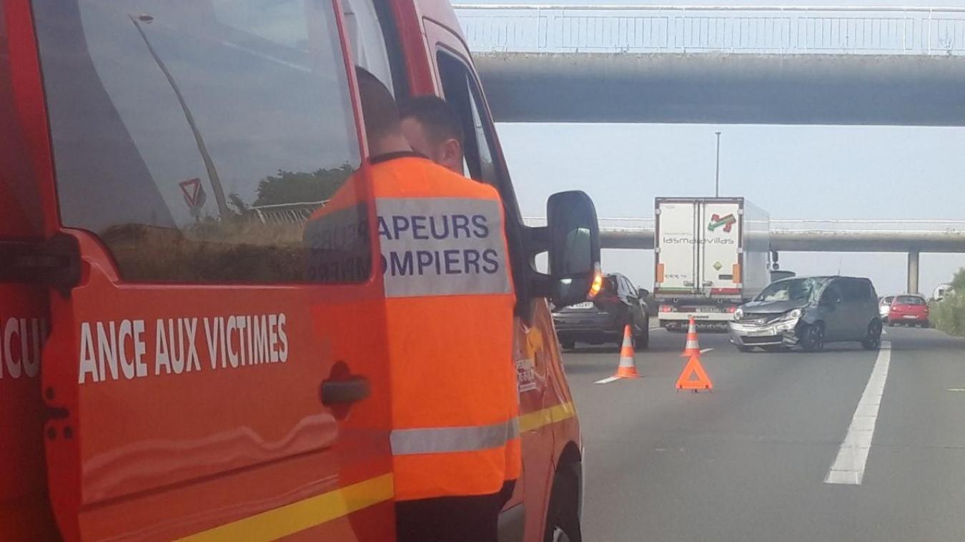 Accident sur l'A16, gros ralentissement à hauteur de Wimille