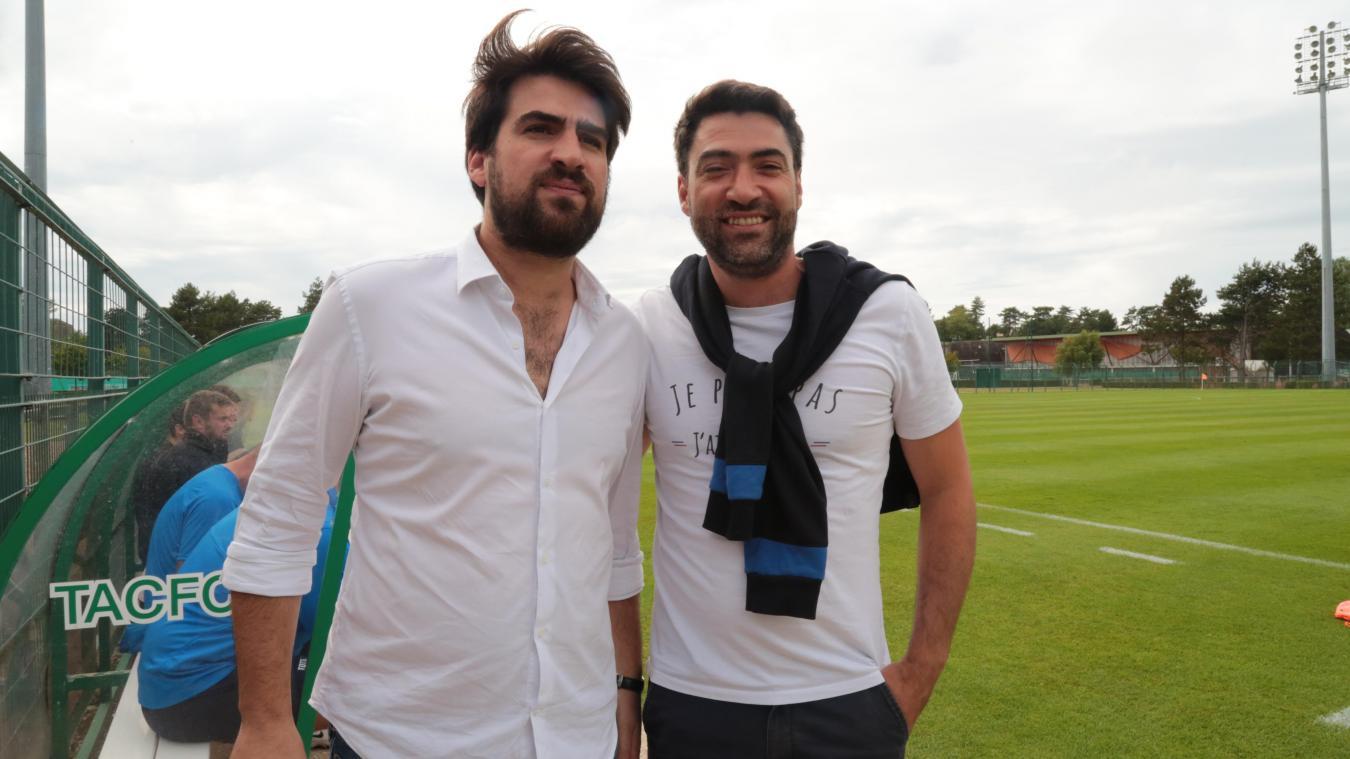 Cédric Ryssen ( à droite) a remplacé son frère à la tête du Touquet Athlétic Club Football Côte d'Opale (TACFCO).