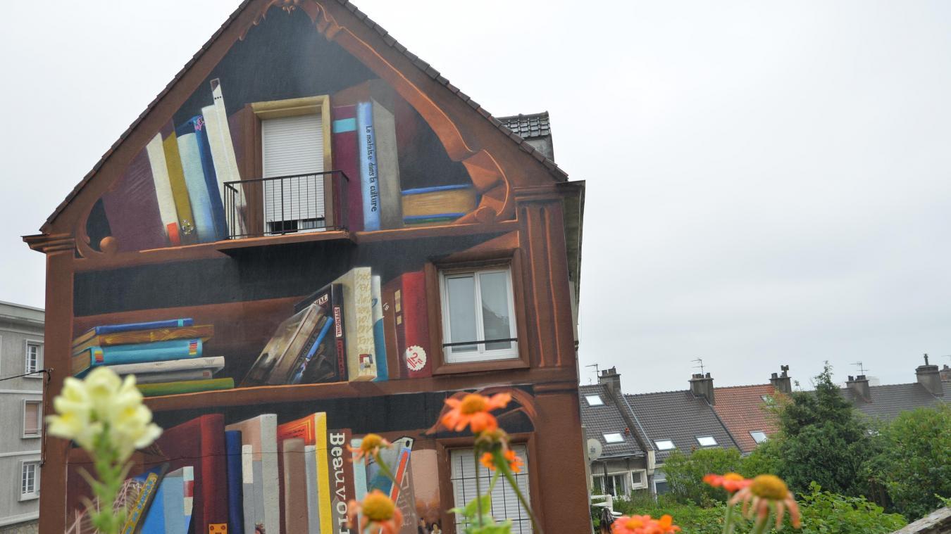 Boulogne-sur-Mer : la bibliothèque trompe-l'oeil bientôt terminée