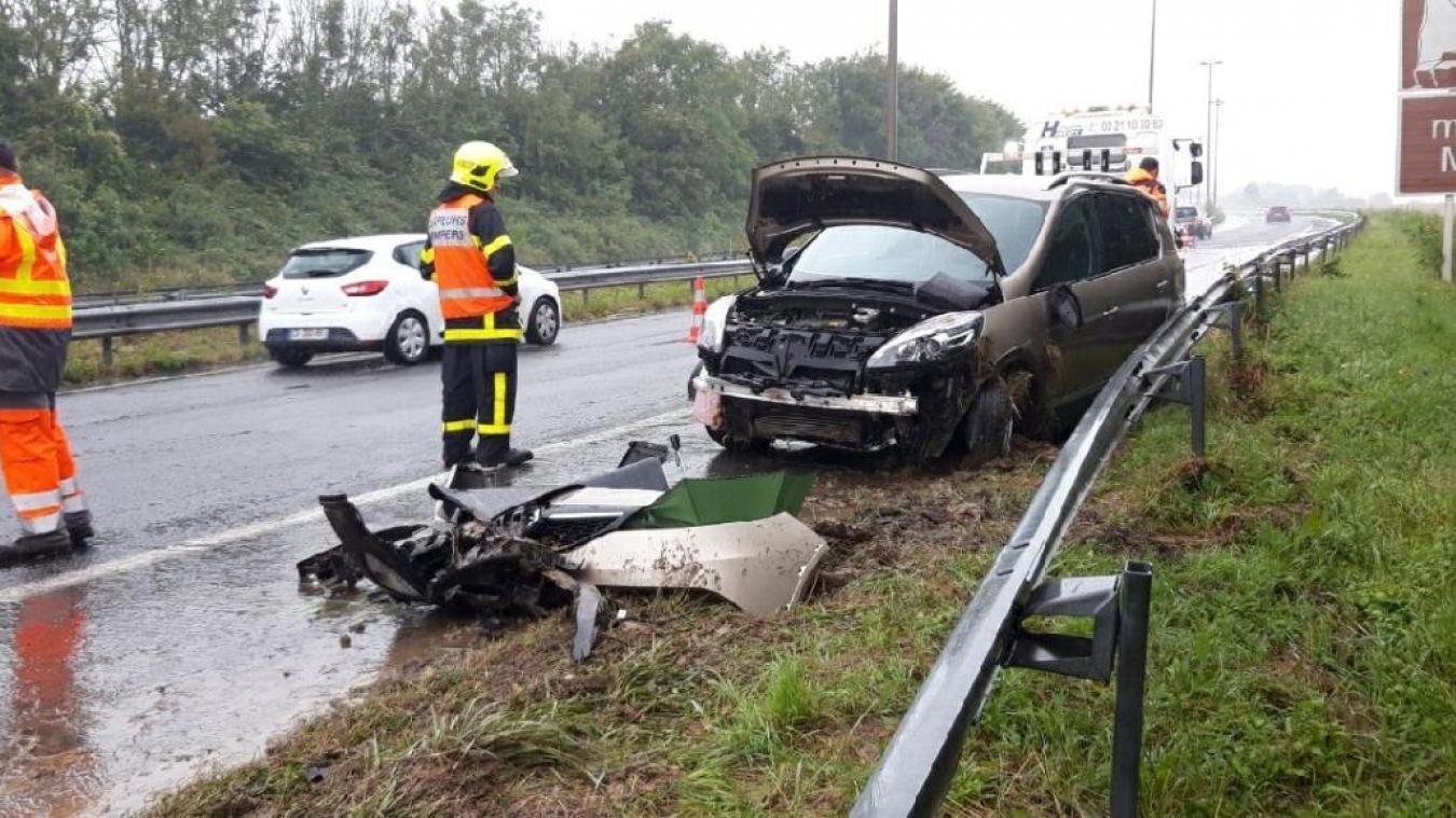 L'accident s'est produit à hauteur de Leubringhem.