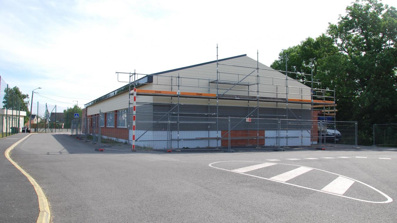 Les travaux de la salle des fêtes ont démarré en juin.