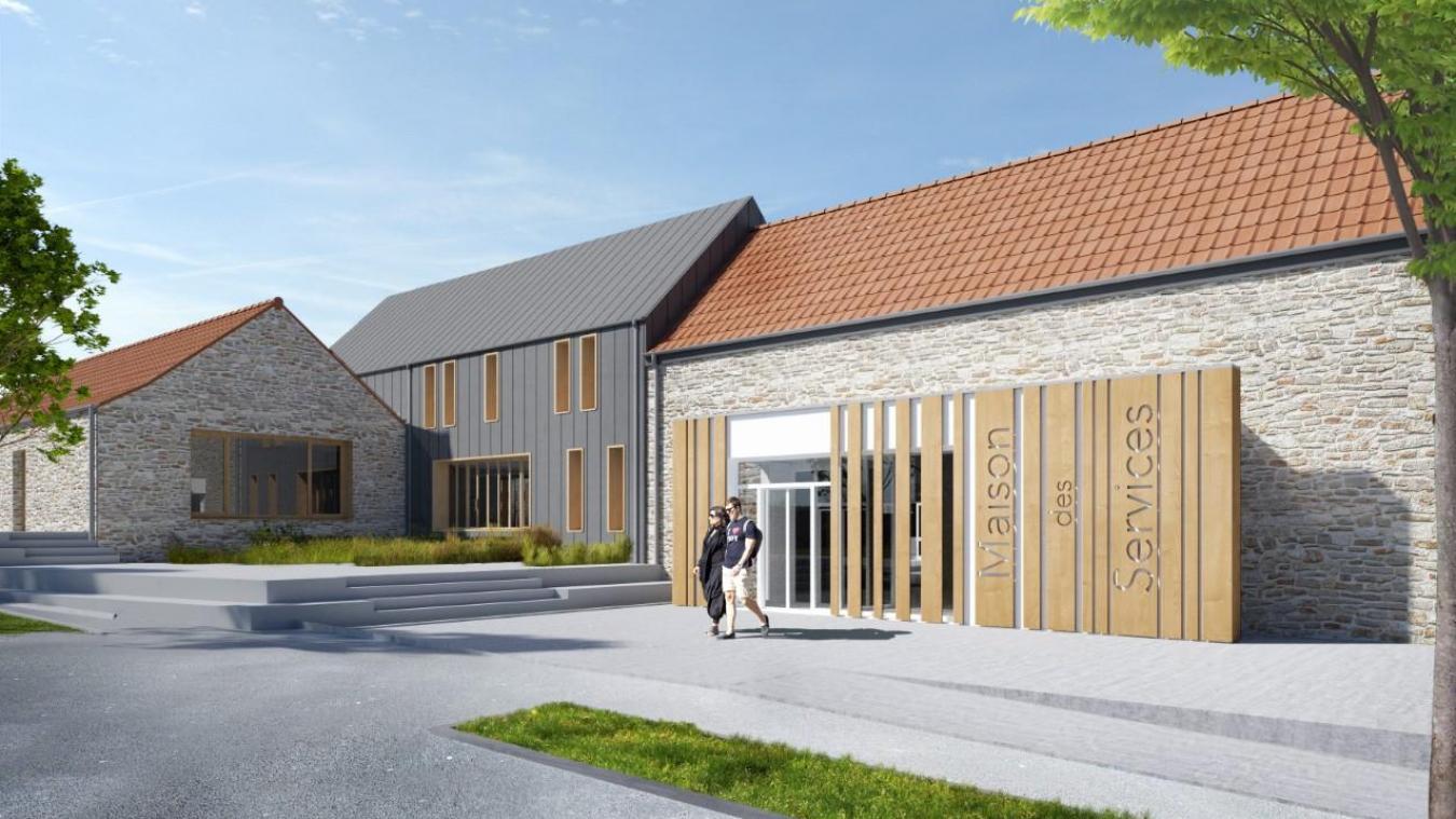 Un aperçu de la future maison des services.