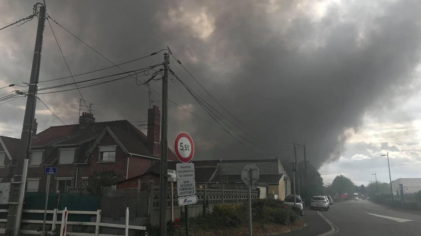 Brebières [Vidéo]: le film de l'incendie chez RAVE (synthèse-17h50+Galerie photos)