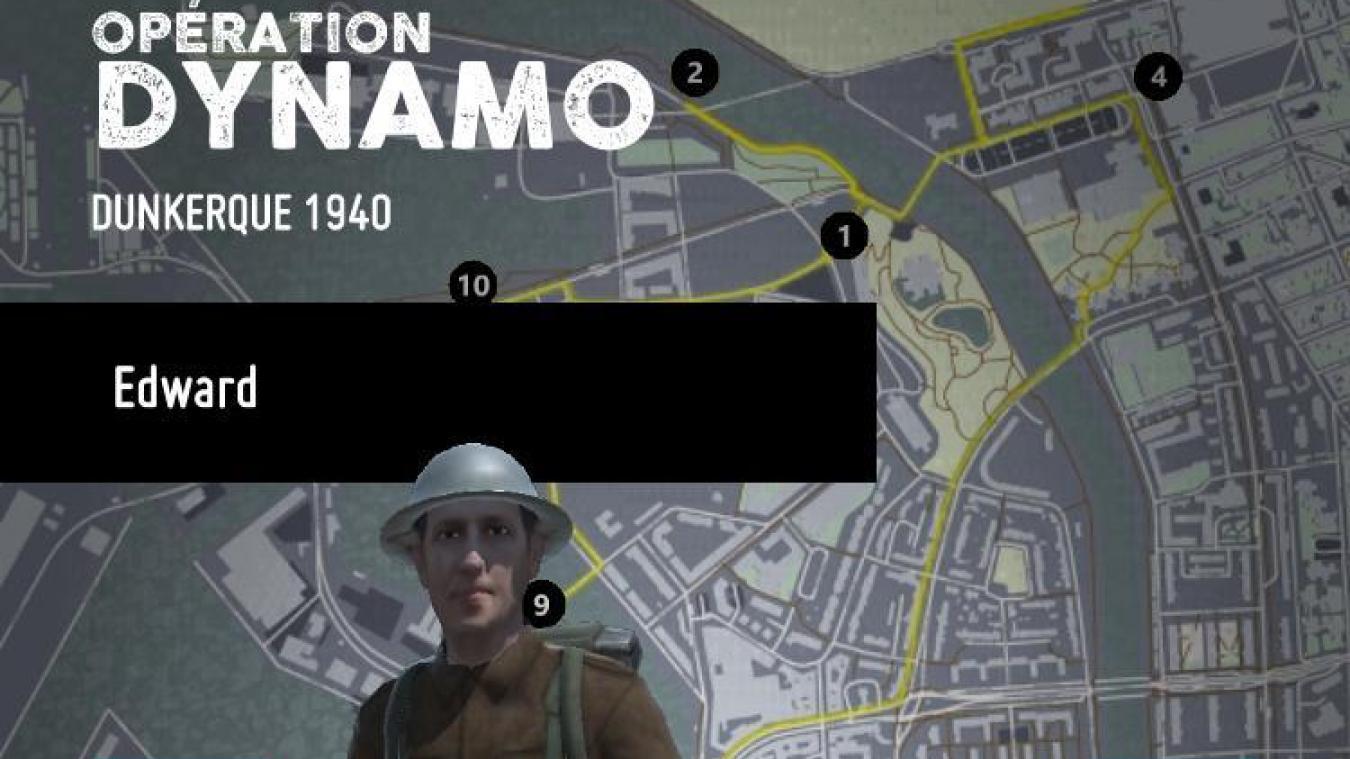 Avec l'application, on peut suivre le parcours d'Andrew, soldat britannique, ou Louisette, une jeune dunkerquoise, durant la bataille de Dunkerque.