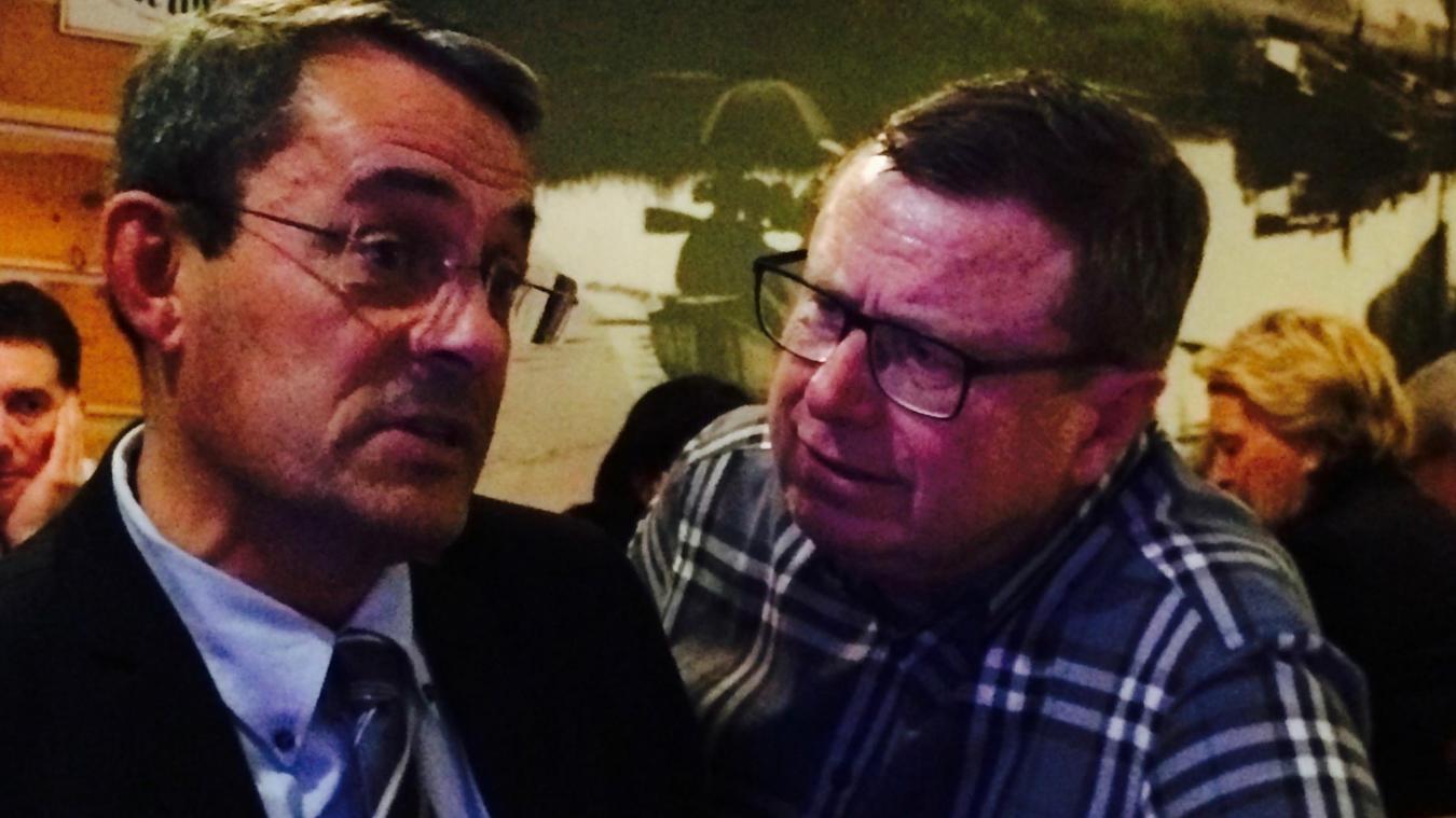 Thierry Spas (à gauche) et Philippe Rapeneau, lors d'un séminaire en 2014.