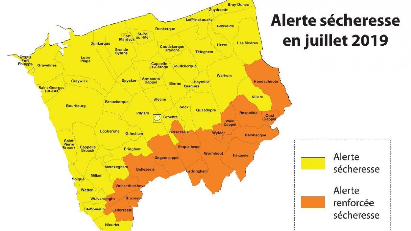 Depuis le mois d'avril, l'alerte sécheresse s'est étendue à des communes jusqu'alors en vigilance. D'autres viennent de passer en alerte renforcée. Gare aux sanctions en cas de non-respect des restrictions !