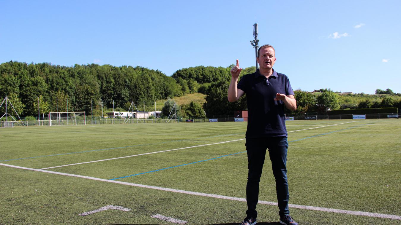 Laurent Mortier, 48 ans et père de deux enfants, est le nouveau président du club de football de Marles-les-Mines.