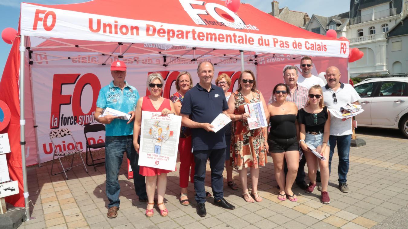 La section syndicale FO des Hauts-de-France était présente au Touquet-Paris-Plage jeudi 1 er  août.