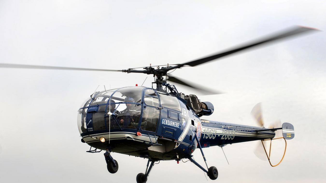 C'est en hélicoptère, que le détenu a été transporté à Condé-sur-Sarthe.