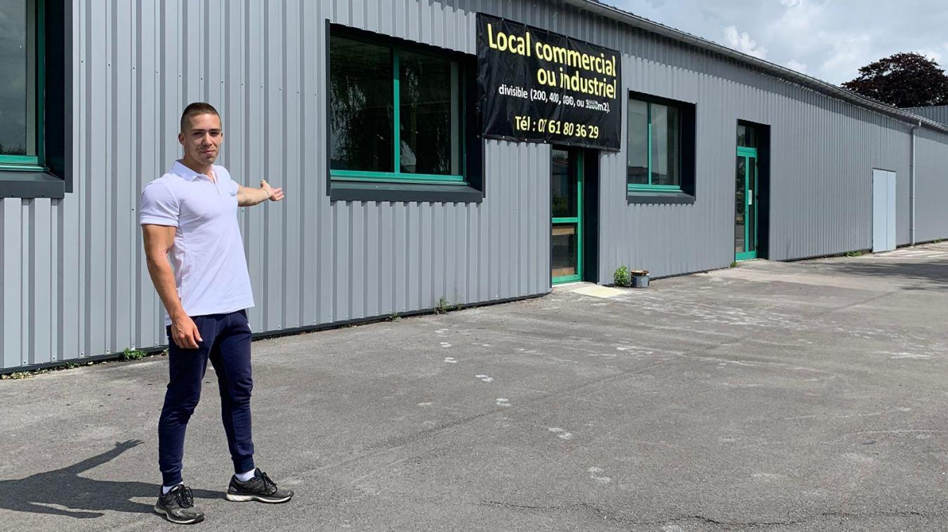Gaëtan Boeuf était coach sportif à Pop fitness, désormais fermé. Il a décidé d'ouvrir sa propre salle à son retour de l'armée.
