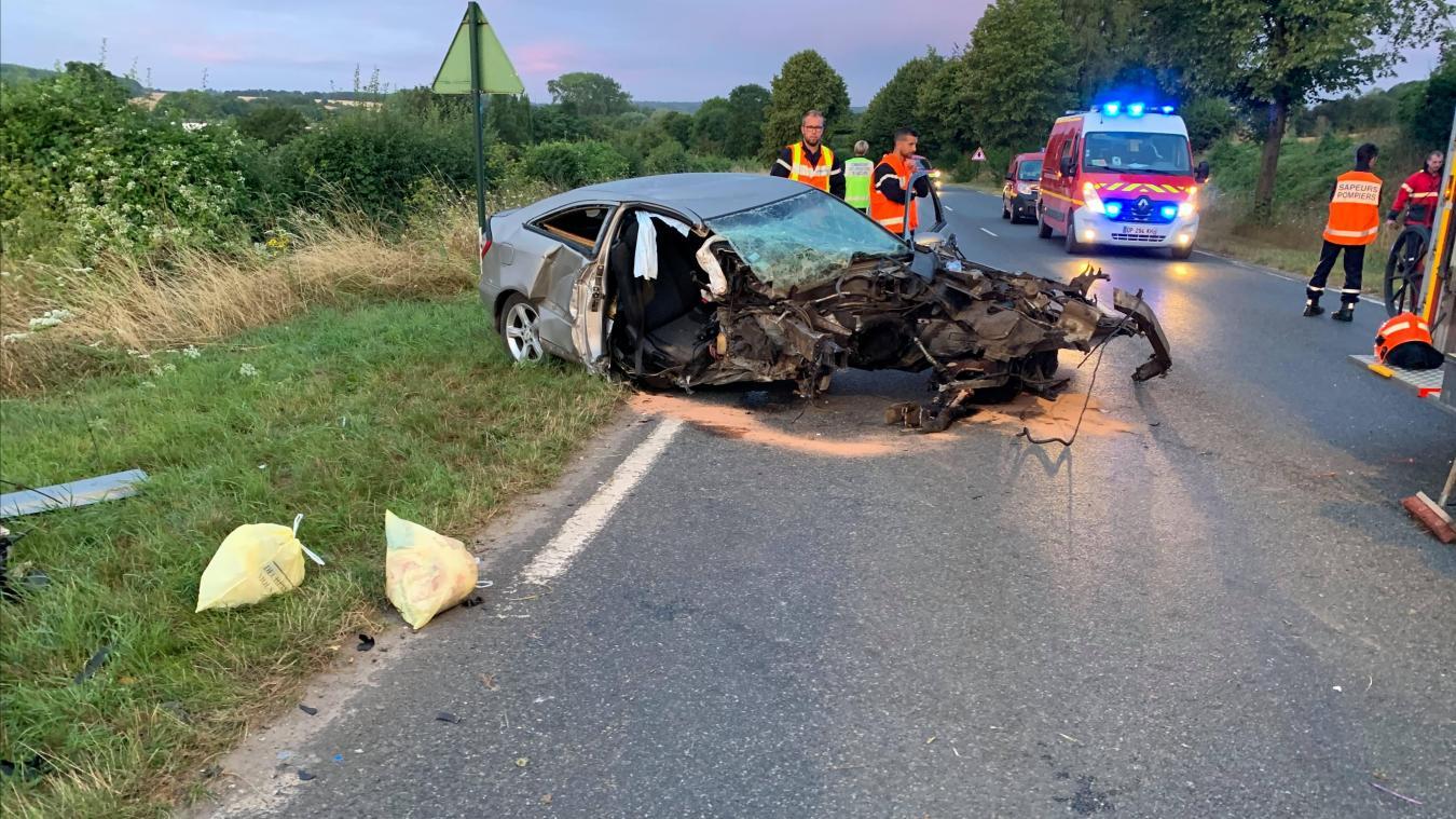 Calonne-Ricouart: accident sur la D70, le conducteur roulait avec 1,40g d'alcool dans le sang