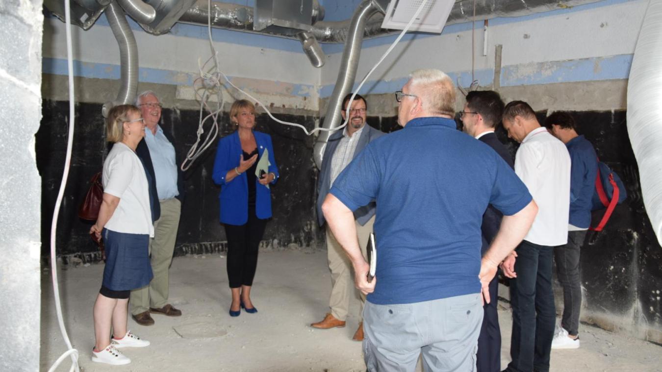 Joëlle Cottenye, la vice-présidente du Département du Nord en charge de l'Éducation et des collèges, a pu visiter l'avancée des travaux.