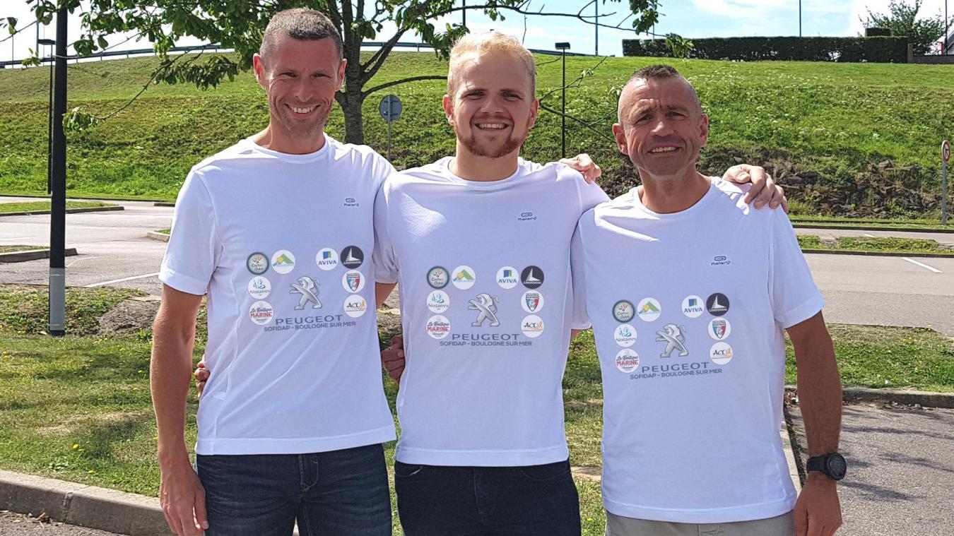 Jérôme, Cyril et Olivier (de gauche à droites'élanceront le 25 août à l'Ironman de Vichy.