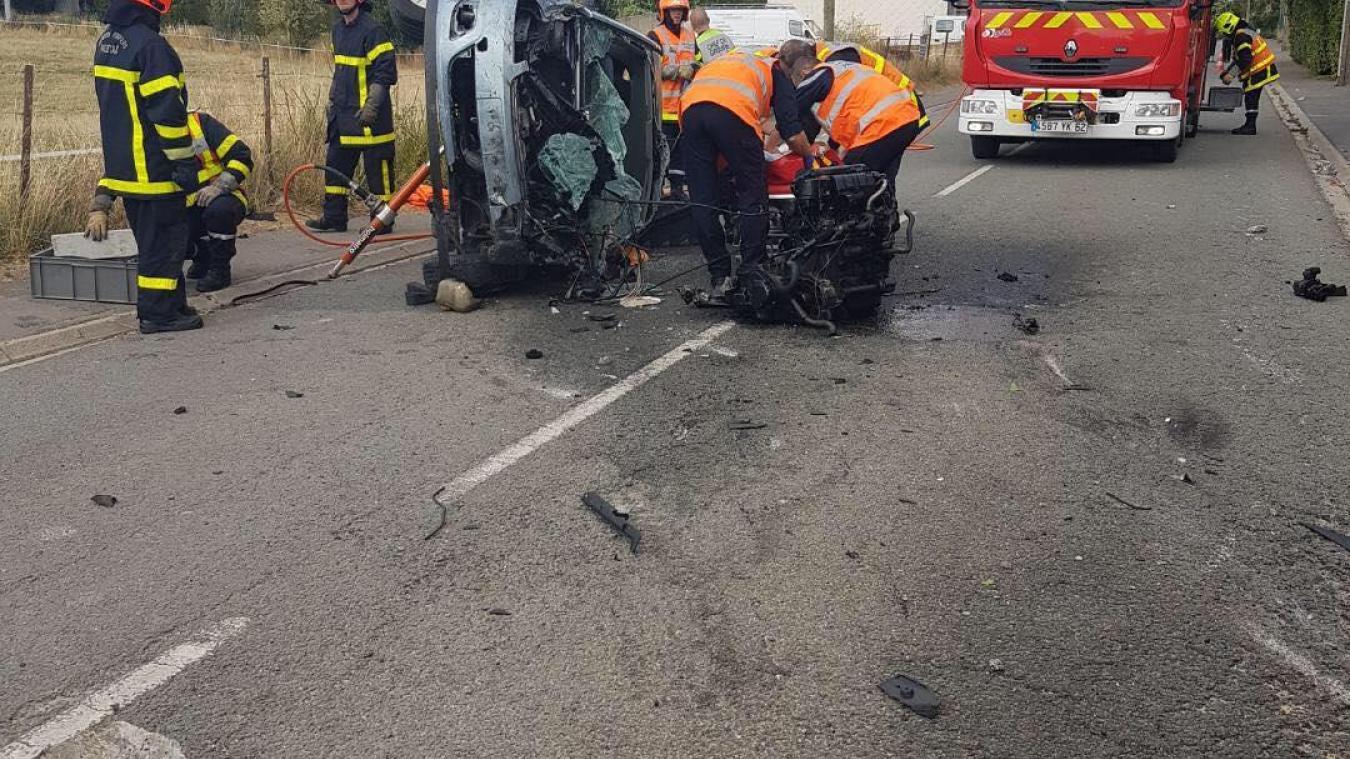 Héninel: deux blessés (Galerie photo)