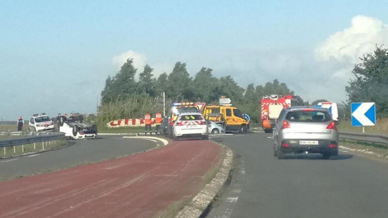 Deux véhicules se sont retrouvés impliqués dans cet accident.